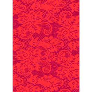 Phone Cover Pattern Lace - Red