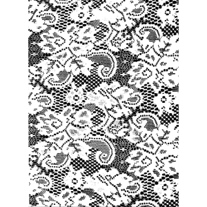 Phone Cover Pattern Lace - White