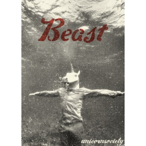 underwater beast blackandwhite