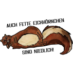 Fette Eichhörnchen