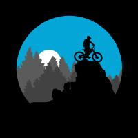 Biker on the top