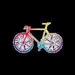 Vélo multicolore