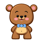 Brown Bear Boy - Kawaii