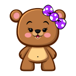 Brown Bear Girl - Kawaii