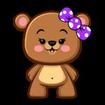 Brown Bear Girl - Kawaii