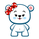 Polar Bear Girl - Kawaii