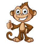 Cheeky Monkey - Thumbs Up