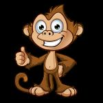 Cheeky Monkey - Thumbs Up