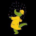 crocodile sous la pluie