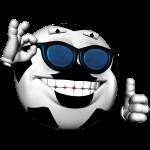 3D Fussball mit Brille