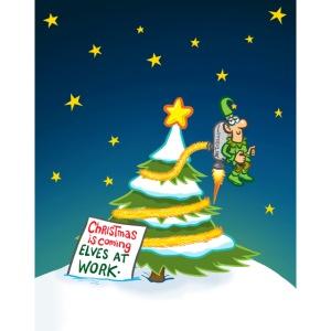 Elf Decorating Xmas Tree