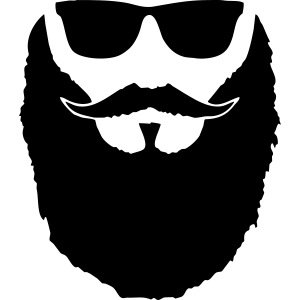 Hipster beard glasses