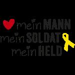 Gelbe Schleife - Mein Mann, Soldat & Held /s