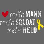 Gelbe Schleife - Mein Mann, Soldat & Held /w