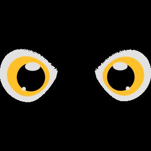 leuchtende Augen einer Schnee-Eule