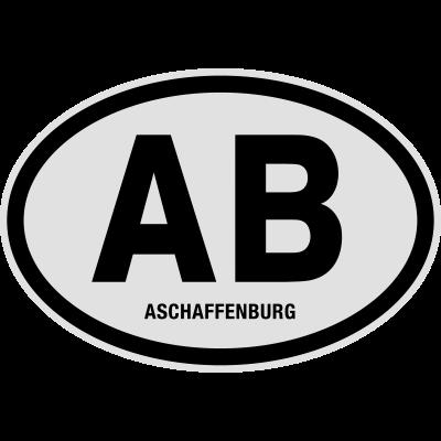 AB Aschaffenburg - AB Aschaffenburg. Lustiges T-Shirt @shirtrecycler. AB, Aschaffenburg, Auto Kennzeichen, Bayern, Deutschland, KFZ-Kennzeichen, Kennzeichen, Kreis, Nummernschild, Stadt, shirtrecycler, lustig, lustige - Stadt,Nummernschild,Kreis,Kennzeichen,KFZ-Kennzeichen,Deutschland,Bayern,Auto Kennzeichen,Aschaffenburg,AB