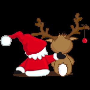Santa Claus und Rentier