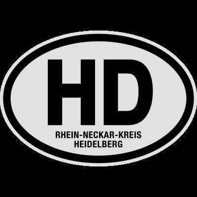 HD Rhein-Neckar-Kreis Heidelberg - Finde bei Shirtrecycler Dein Geschenk mit heißen Sprüchen und tollen Aufdrucken. Nutze lustige Sprüche und geile Motive für coole Outfits - für Urlaub, Party und JGA. Gestalte Dein T-Shirt und feier. - Stadt,Rhein-Neckar-Kreis Heidelberg,Nummernschild,Kreis,Kennzeichen,KFZ-Kennzeichen,HD,Deutschland,Baden-Württemberg,Auto Kennzeichen
