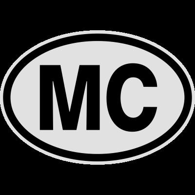 MC Monaco - MC Monaco. Lustiges T-Shirt von shirtrecycler. Fun, toll, geil, heiß, JGA, Karneval, Liebe, sexy, süß, niedlich, cool, Bestseller, Geburtstag, Fasching, Hochzeit, Spass, Sprüche, Party, Urlaub, Schule, Reise, Ferien, versaut, verrückt, lustige Motive - Urlaub,Oval,Nummernschild,Nationalitätskennzeichen,Monaco,MC,Kraftfahrzeug,Kennzeichen,Herkunft