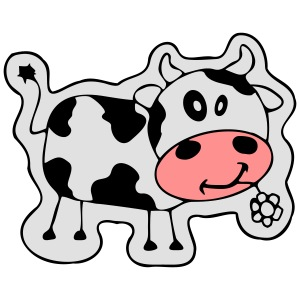 Pink cow small