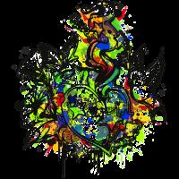 Herz (Blumen & Sterne - Colour Splash) 02