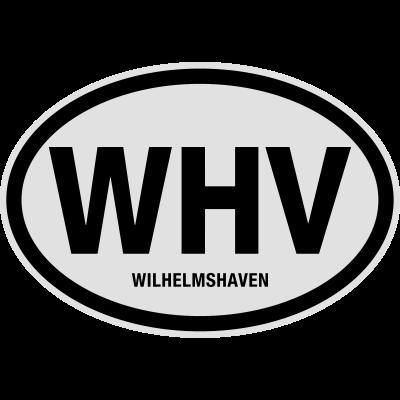 WHV Wilhelmshaven - Finde bei Shirtrecycler Dein Geschenk mit heißen Sprüchen und tollen Aufdrucken. Nutze lustige Sprüche und geile Motive für coole Outfits - für Urlaub, Party und JGA. Gestalte Dein T-Shirt und feier. - Wilhelmshaven,WHV,Stadt,Nummernschild,Niedersachsen,Kreis,Kennzeichen,KFZ-Kennzeichen,Deutschland,Auto Kennzeichen