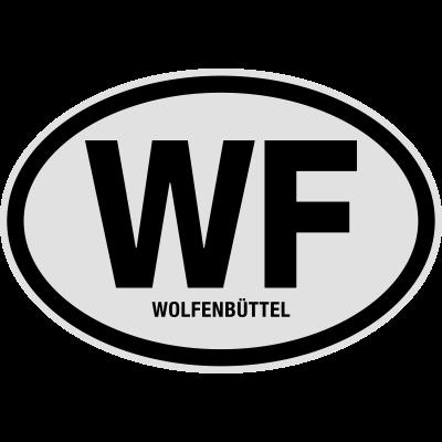 WF Wolfenbüttel - WF Wolfenbüttel. Lustiges T-Shirt von shirtrecycler. Fun, toll, geil, heiß, JGA, Karneval, Liebe, sexy, süß, niedlich, cool, Bestseller, Geburtstag, Fasching, Hochzeit, Spass, Sprüche, Party, Urlaub, Schule, Reise, Ferien, versaut, verrückt, lustige Motive - Wolfenbüttel,WF,Stadt,Nummernschild,Niedersachsen,Kreis,Kennzeichen,KFZ-Kennzeichen,Deutschland,Auto Kennzeichen