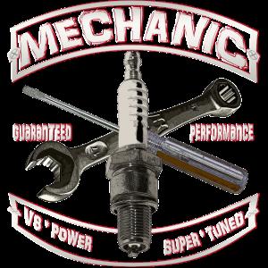 Shirtmatic Mechanic spark Hot Rod