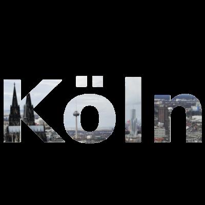 Köln - Schriftzug Köln mit Kölner Bauwerken wie dem Dom - Köln,Dom,Colonius,Colonia