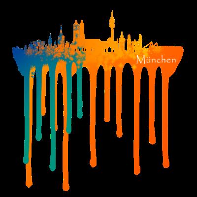 München Color Skyline - Colorful Munich City Skyline - splash,Skyline,München,Color