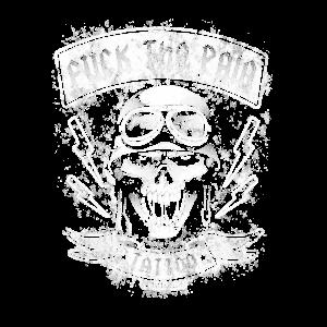 Vintage Biker Skull Fuck the Pain