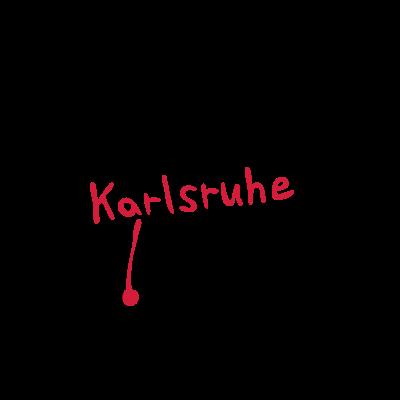 Karlsruhe - Wo ist Karlsruhe zu finden?  - Tremper,Point,Maps,Karlsruhe