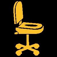 Nerd Bürostuhl / convenience office chair (1c)