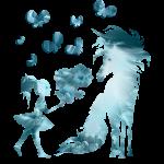 Kleine Mädchen und Pferd