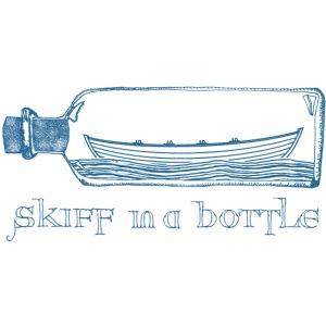 skiff in a bottle