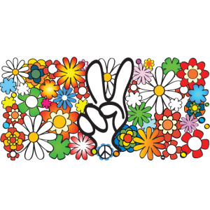Flower Power Peace Quer