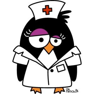 Infirmière Croix rouge IDE Soignante Pingouin