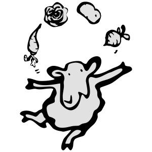 CSA Schaf mit Gemüse