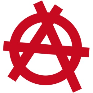 Anarchy symbol - red