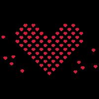 Herz aus eckigen Herzen / heart of corny hearts (1c)