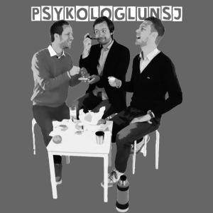 psykologlunsj greyscale hvitlogo paitning png