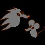 Igel und Maus coloriert