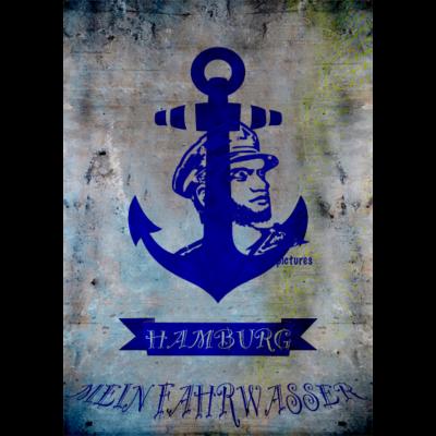 FAHRWASSER HAMBURG blue captain - Anker für Hamburger - Hamburg,Anker
