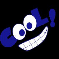 Cool! blau