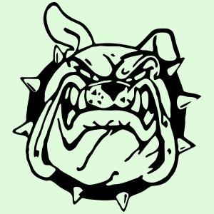 Bulldog souriant