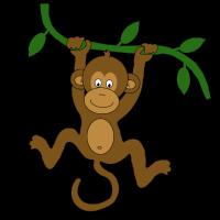 Affe im Baum