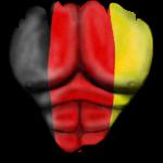 Deutschland Flagge Gerippt Muskeln