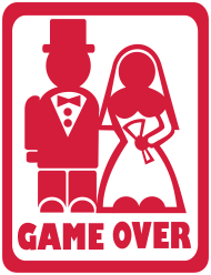 Jungesellenabschied/JGA-Shirt: game_over_couple_red