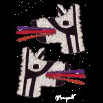 drie kleur bewerkt outline double met signature wi