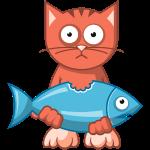 VL109B_Katze+Fisch_4c